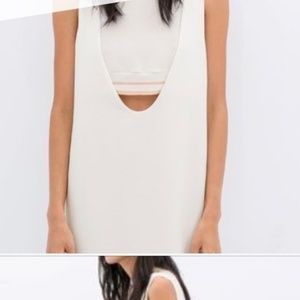 ZARA mini dress with front cut out and band-White
